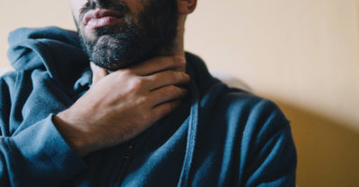 Illustration of Neck Stiffness From The Flu And Sore Throat?