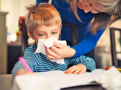 Illustration of Overcoming Cough Colds In Children Aged 4 Years Due To Allergies?