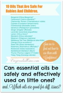 Illustration of The Use Of Aromatherapy For Children Aged 16 Months?