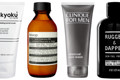 Illustration of Selection Of Facial Soap Suitable For Men With Combination Skin?
