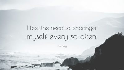 Illustration of The Feeling Of Wanting To Endanger Yourself?