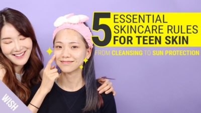 Illustration of How To Take Care Of Facial Skin In Their Teens?
