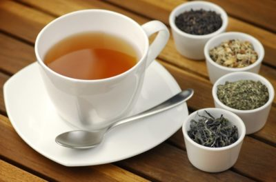 Illustration of Selection Of Good Tea For The Diet?