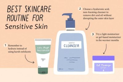 Illustration of Choosing Facial Care Products For Sensitive Skin?