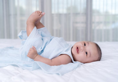 Illustration of The 10-month-old Child's Feet Are Often Lifted Up Even When He Is Sleeping?