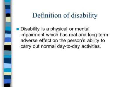 Illustration of Definition Of Disability?