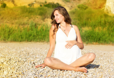 Illustration of Sunbathing In The Morning While 12 Weeks Pregnant?
