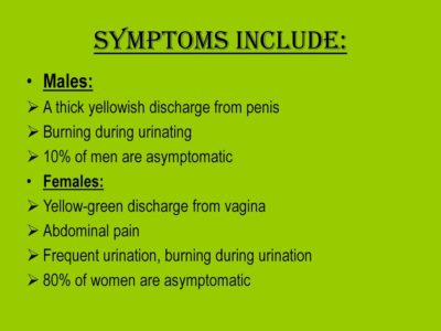 Illustration of A Greenish Yellow Discharge From The Penis?