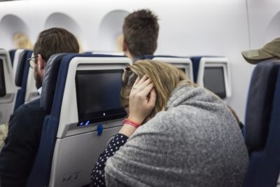 Illustration of Boarding A Plane For People With Ears That Are Too Sensitive To Hear Sounds / Hyperakuisis?