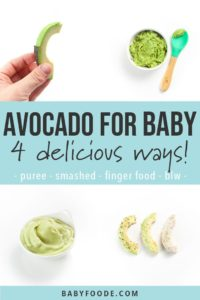 Illustration of Providing Avocado As A Breakfast Menu For 10 Months Babies?