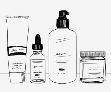 Illustration of The Use Of Cosmetics For The Face Tends To Be Oily?