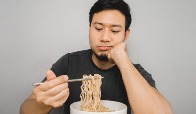 Illustration of Consumption Of Instant Noodles When Sore Throat?