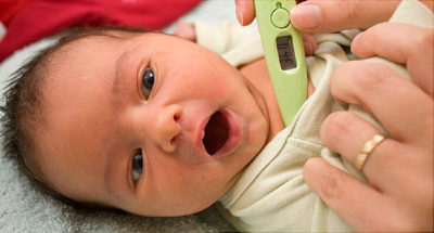 Illustration of The Signs Of Fever In The Baby Are Down And Stable?
