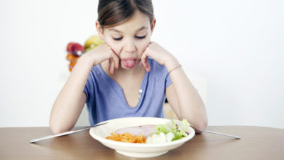 Illustration of The Child Does Not Want To Eat, Is Fussy And Always Sweats Cold?