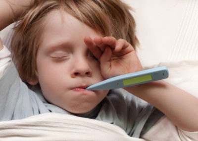 Illustration of Children Are Like Being Scared When They Have Fever?