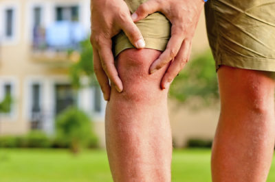 Illustration of Hard Lump On The Knee After Impact?