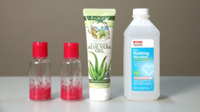 Illustration of Use Of Aloe Vera Masks That Contain Alcohol?