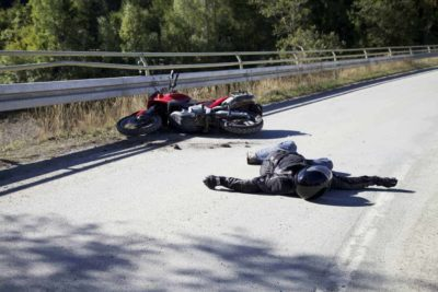 Illustration of Fall Injury From A Motorcycle?