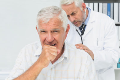 Illustration of Wheezing Accompanied By Repeated Coughs?