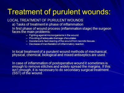 Illustration of What Is The Medicine For Getting Rid Of Purulent Wounds?