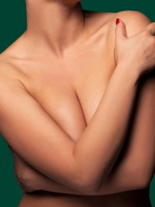 Illustration of Brown Lump That Sticks Together At The Breast?