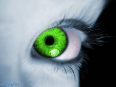 Illustration of Overcoming Eyes That Cannot See From Birth And Are Green In Color?