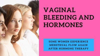 Illustration of Bleeding From The Vagina After Taking Hormone Drugs?