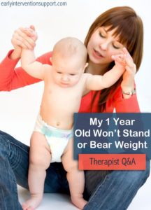 Illustration of 1 Year Old Children Are Not Balanced When Standing?