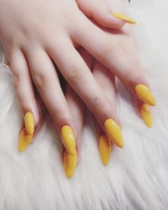 Illustration of Yellow Color On The Cut Nails?