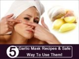 Selection Of Masks For Facial Skin Burns Due To Garlic?