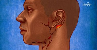 Illustration of A Lump Behind The Ear, Painful And Cold On The Feet?