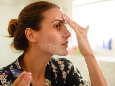 Illustration of The Face Peels Off After The Use Of Face Cream?