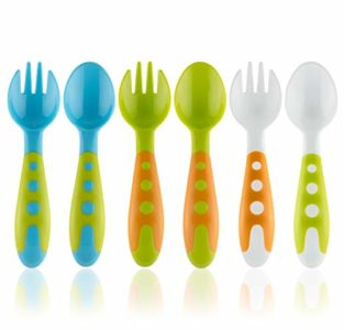 Illustration of Selection Of Cutlery Products For Babies Aged 13 Months?