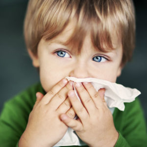 Illustration of Cause The Child Has A Cold But Does Not Runny Nose?