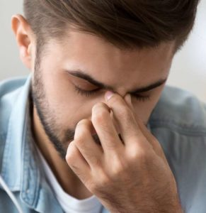 Illustration of Pain In The Right Side Of The Nose Bone When He Smells Strong Odors And Nosebleeds?