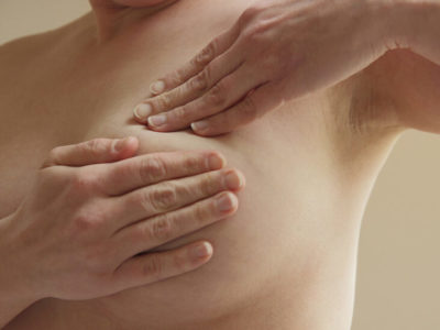 Illustration of Brownish Discharge Accompanied By Pain Around The Breasts?