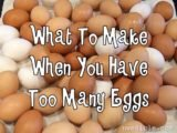 How To Deal With Too Many Eggs?