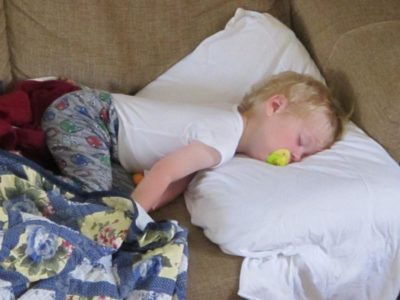Illustration of The Child Continues To Sleep After A High Fever?