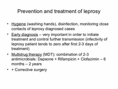Illustration of Causes, Prevention, And Treatment Of Leprosy?