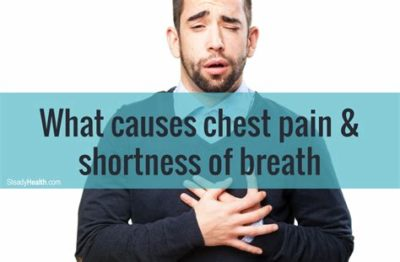 Illustration of Causes Of Left Chest Pain Accompanied By Shortness Of Breath And Nausea?