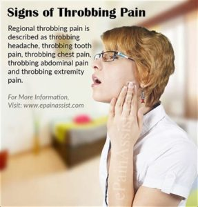 Illustration of A Throbbing Feeling In The Stomach To The Back Accompanied By Pain In The Legs?