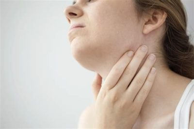 Illustration of Neck Like Swelling And Choking Due To Tonsils?